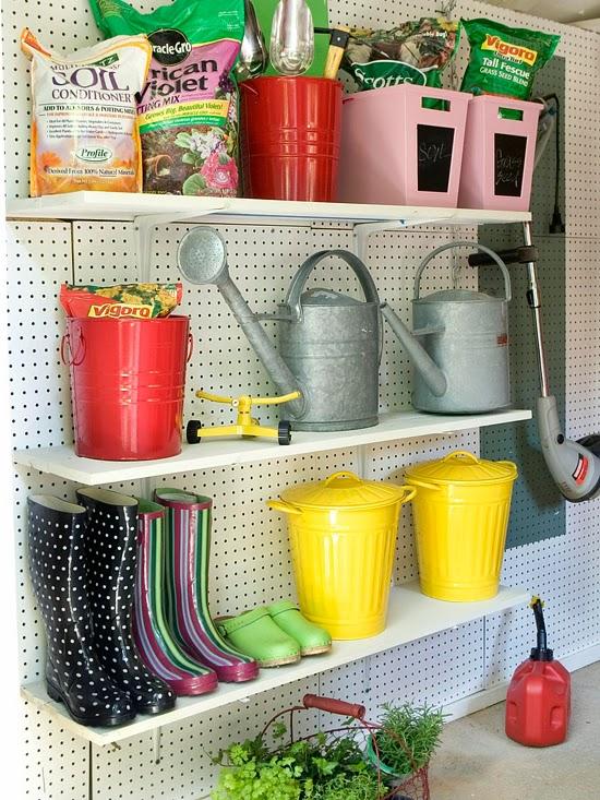 garagem estante jardinagem bhg